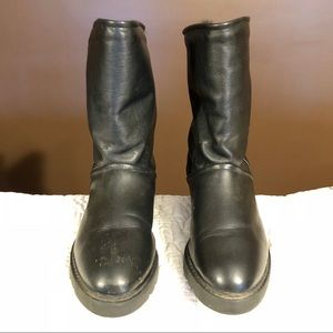 Cougar Shoes - Vintage Leather Ugg Inspired Boot